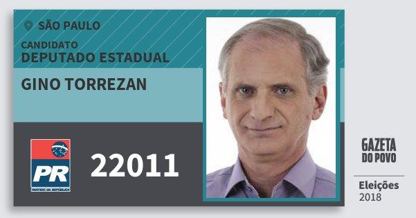 Santinho Gino Torrezan 22011 (PR) Deputado Estadual | São Paulo | Eleições 2018