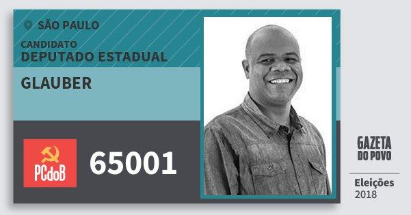 Santinho Glauber 65001 (PC do B) Deputado Estadual | São Paulo | Eleições 2018