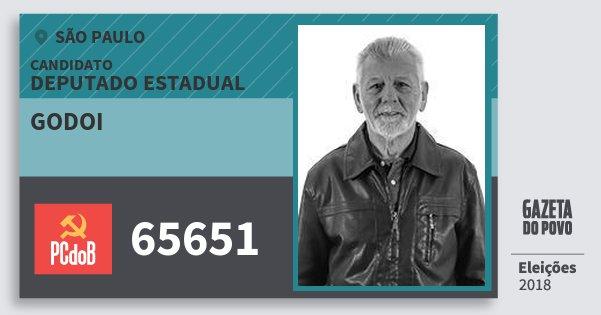 Santinho Godoi 65651 (PC do B) Deputado Estadual | São Paulo | Eleições 2018