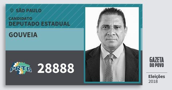 Santinho Gouveia 28888 (PRTB) Deputado Estadual | São Paulo | Eleições 2018