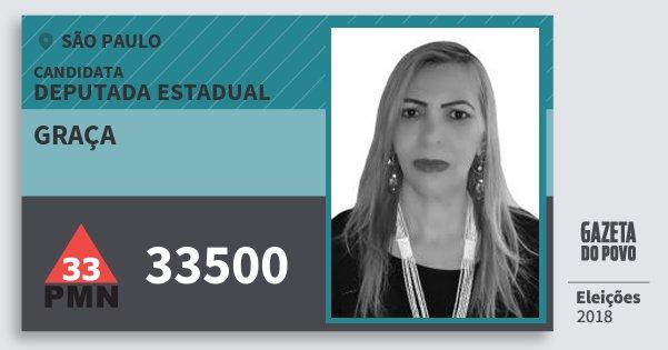 Santinho Graça 33500 (PMN) Deputada Estadual | São Paulo | Eleições 2018