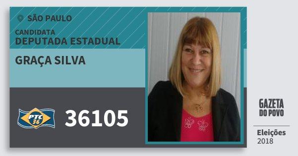 Santinho Graça Silva 36105 (PTC) Deputada Estadual | São Paulo | Eleições 2018