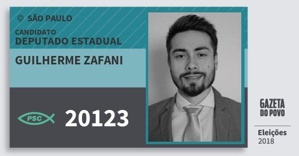 Santinho Guilherme Zafani 20123 (PSC) Deputado Estadual   São Paulo    Eleições 2018 69771ee7ba