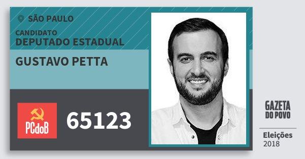 Santinho Gustavo Petta 65123 (PC do B) Deputado Estadual | São Paulo | Eleições 2018