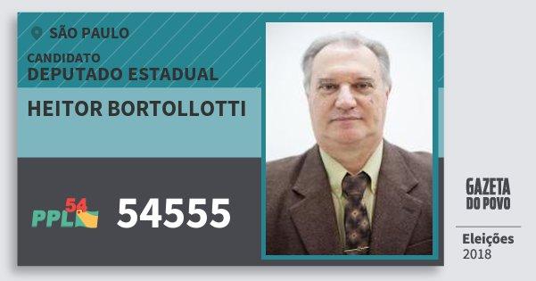 Santinho Heitor Bortollotti 54555 (PPL) Deputado Estadual | São Paulo | Eleições 2018