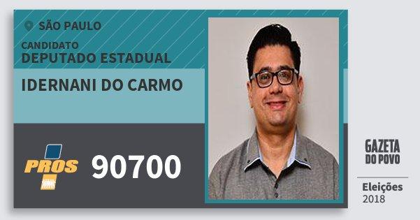 Santinho Idernani do Carmo 90700 (PROS) Deputado Estadual | São Paulo | Eleições 2018