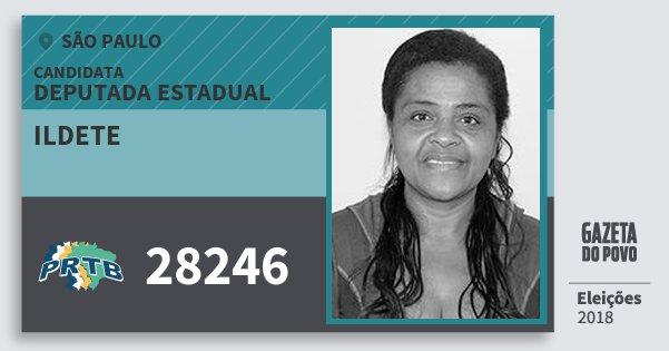 Santinho Ildete 28246 (PRTB) Deputada Estadual | São Paulo | Eleições 2018