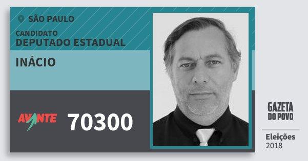 Santinho Inácio 70300 (AVANTE) Deputado Estadual | São Paulo | Eleições 2018