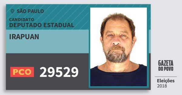 Santinho Irapuan 29529 (PCO) Deputado Estadual | São Paulo | Eleições 2018