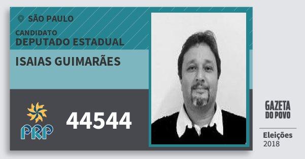 Santinho Isaias Guimarães 44544 (PRP) Deputado Estadual | São Paulo | Eleições 2018