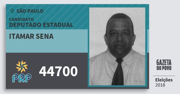Santinho Itamar Sena 44700 (PRP) Deputado Estadual | São Paulo | Eleições 2018
