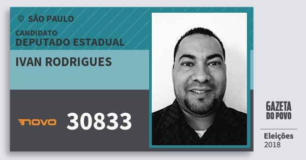 Santinho Ivan Rodrigues 30833 (NOVO) Deputado Estadual | São Paulo | Eleições 2018
