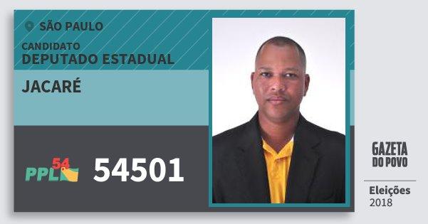 Santinho Jacaré 54501 (PPL) Deputado Estadual | São Paulo | Eleições 2018