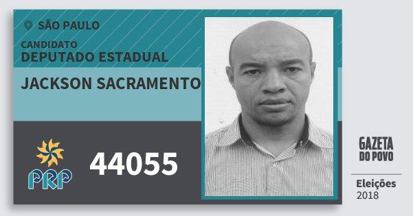 Santinho Jackson Sacramento 44055 (PRP) Deputado Estadual | São Paulo | Eleições 2018