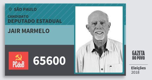 Santinho Jair Marmelo 65600 (PC do B) Deputado Estadual | São Paulo | Eleições 2018