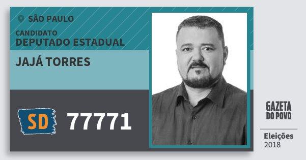 Santinho Jajá Torres 77771 (SOLIDARIEDADE) Deputado Estadual | São Paulo | Eleições 2018