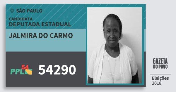 Santinho Jalmira do Carmo 54290 (PPL) Deputada Estadual | São Paulo | Eleições 2018