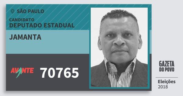Santinho Jamanta 70765 (AVANTE) Deputado Estadual | São Paulo | Eleições 2018