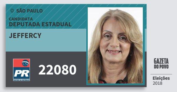 Santinho Jeffercy 22080 (PR) Deputada Estadual | São Paulo | Eleições 2018