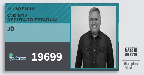Santinho Jô 19699 (PODE) Deputado Estadual | São Paulo | Eleições 2018