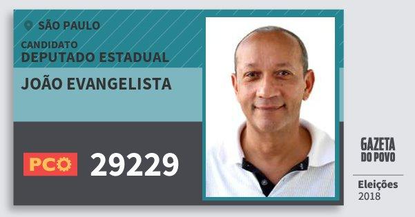 Santinho João Evangelista 29229 (PCO) Deputado Estadual | São Paulo | Eleições 2018