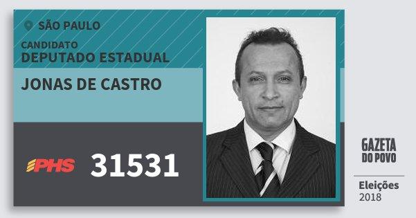 Santinho Jonas de Castro 31531 (PHS) Deputado Estadual | São Paulo | Eleições 2018