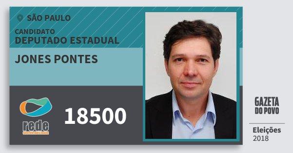 Santinho Jones Pontes 18500 (REDE) Deputado Estadual | São Paulo | Eleições 2018