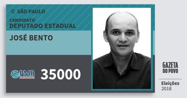 Santinho José Bento 35000 (PMB) Deputado Estadual | São Paulo | Eleições 2018