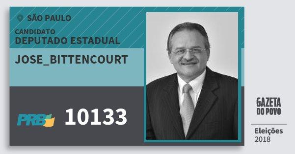 Santinho Jose_Bittencourt 10133 (PRB) Deputado Estadual | São Paulo | Eleições 2018