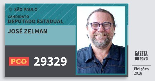Santinho José Zelman 29329 (PCO) Deputado Estadual | São Paulo | Eleições 2018