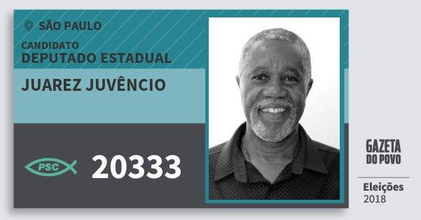 Santinho Juarez Juvêncio 20333 (PSC) Deputado Estadual   São Paulo    Eleições 2018 90d5ab2cb0
