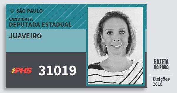 Santinho Juaveiro 31019 (PHS) Deputada Estadual | São Paulo | Eleições 2018