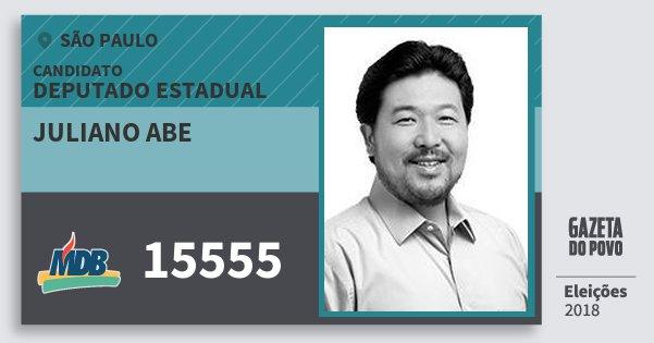 Santinho Juliano Abe 15555 (MDB) Deputado Estadual | São Paulo | Eleições 2018