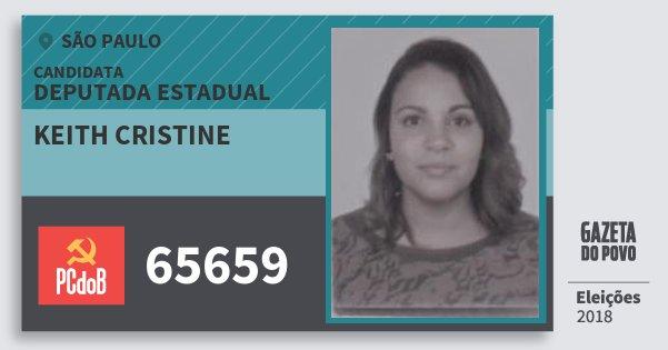 Santinho Keith Cristine 65659 (PC do B) Deputada Estadual   São Paulo   Eleições 2018