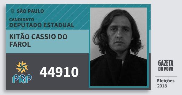 Santinho Kitão Cassio do Farol 44910 (PRP) Deputado Estadual   São Paulo   Eleições 2018
