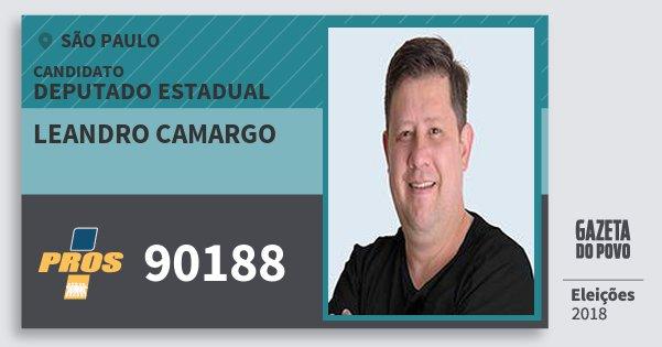 Santinho Leandro Camargo 90188 (PROS) Deputado Estadual | São Paulo | Eleições 2018
