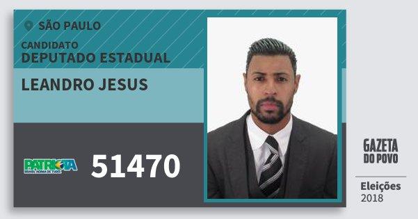 Santinho Leandro Jesus 51470 (PATRI) Deputado Estadual | São Paulo | Eleições 2018