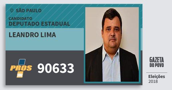 Santinho Leandro Lima 90633 (PROS) Deputado Estadual | São Paulo | Eleições 2018