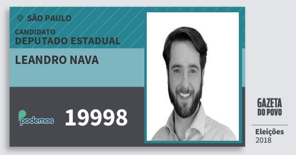 Santinho Leandro Nava 19998 (PODE) Deputado Estadual   São Paulo   Eleições 2018