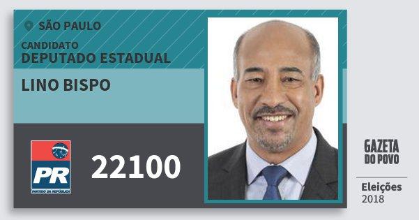 Santinho Lino Bispo 22100 (PR) Deputado Estadual | São Paulo | Eleições 2018