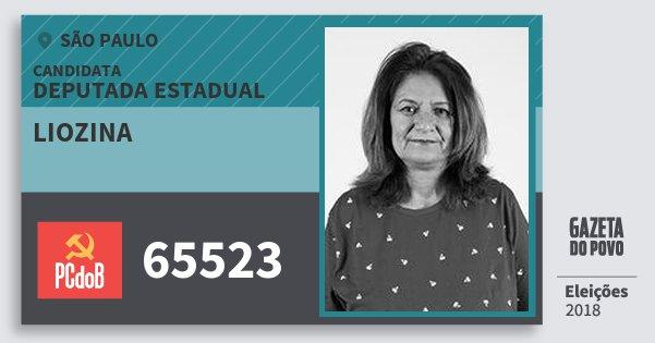 Santinho Liozina 65523 (PC do B) Deputada Estadual | São Paulo | Eleições 2018