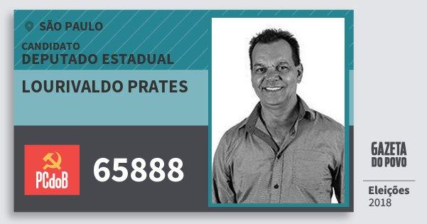 Santinho Lourivaldo Prates 65888 (PC do B) Deputado Estadual | São Paulo | Eleições 2018