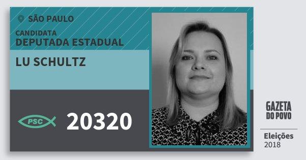 Santinho Lu Schultz 20320 (PSC) Deputada Estadual | São Paulo | Eleições 2018