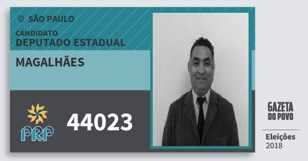 Santinho Magalhães 44023 (PRP) Deputado Estadual | São Paulo | Eleições 2018