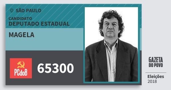 Santinho Magela 65300 (PC do B) Deputado Estadual | São Paulo | Eleições 2018