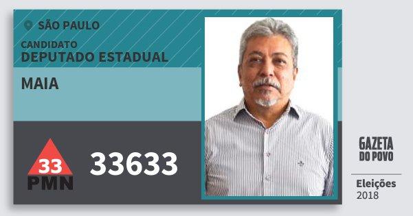 Santinho Maia 33633 (PMN) Deputado Estadual   São Paulo   Eleições 2018