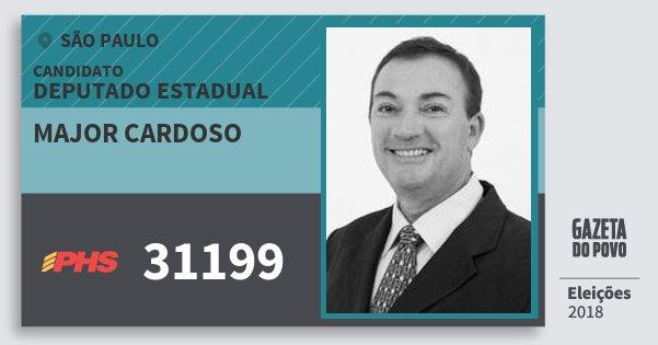 Santinho Major Cardoso 31199 (PHS) Deputado Estadual   São Paulo   Eleições 2018