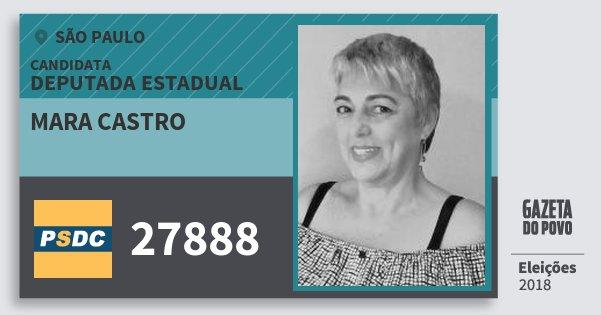 Santinho Mara Castro 27888 (DC) Deputada Estadual | São Paulo | Eleições 2018