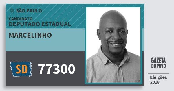 Santinho Marcelinho 77300 (SOLIDARIEDADE) Deputado Estadual | São Paulo | Eleições 2018