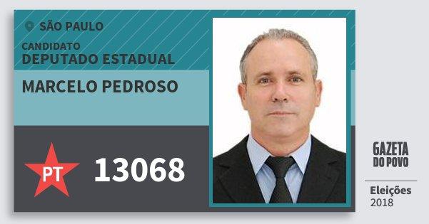 Santinho Marcelo Pedroso 13068 (PT) Deputado Estadual | São Paulo | Eleições 2018